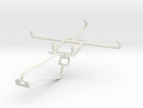 Controller mount for Xbox One Chat & Meizu m3e in White Natural Versatile Plastic