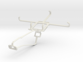 Controller mount for Xbox One Chat & Microsoft Lum in White Natural Versatile Plastic