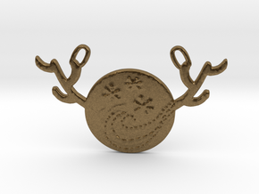Horned Moon Winter by ~M. in Natural Bronze