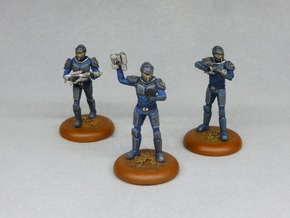 Terran Marine Squad in Black Hi-Def Acrylate