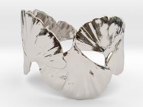 Ginko Bracelet size M,L,XL in Rhodium Plated Brass: Large