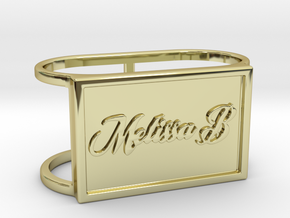 Melissa B TwinRing in 18k Gold Plated Brass: 6 / 51.5