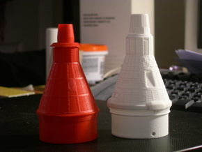 Liberty Bell 7 Capsule for ST-20 Estes (1/35) in White Processed Versatile Plastic