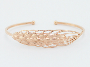 Wheat Bracelet all sizes in 14k Rose Gold Plated: Extra Small