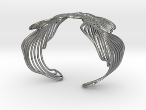 Pisces all sizes in Raw Silver: Large