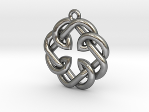 Fatherhood Knot Pendant in Natural Silver: Small