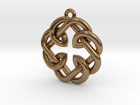 Fatherhood Knot Pendant in Natural Brass: Small