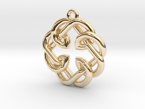 Fatherhood Knot Pendant in 14K Yellow Gold: Small