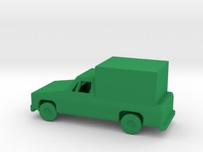 1/144 Scale Pickup With Box in Green Processed Versatile Plastic