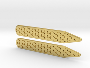 Honeycomb Inverse Collier Straighteners  in Polished Brass