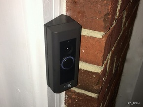 Ring Doorbell Pro 30 Degree Wedge in Black Strong & Flexible