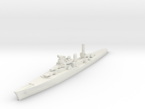 Duca degli Abruzzi class light cruiser 1/2400 in White Natural Versatile Plastic