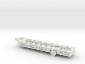 """1/144 Scale """"Queen Mary"""" Aircraft Recovery Trailer in White Natural Versatile Plastic"""