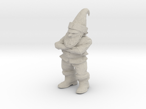 Petrified Grumpy Gnome in Natural Sandstone
