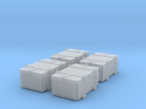 1/48 IJN Ammo Box 25mm Double Set 4 Units in Smooth Fine Detail Plastic