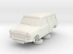 1-87 Austin Mini 64 Estate Clubman in White Natural Versatile Plastic