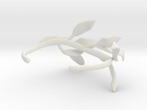 Laurel Leaf Cuff in White Natural Versatile Plastic