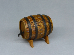 Wooden Barrel in White Natural Versatile Plastic