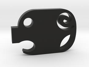 Mini Piggy Cutlet Keychain / Necklace in Black Natural Versatile Plastic