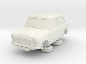 1-64 Austin 58 Saloon in White Natural Versatile Plastic