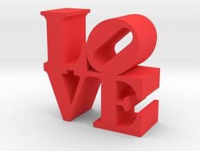Love Sculpture miniature in Red Processed Versatile Plastic