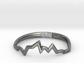 Maria Soundwave Ring in Fine Detail Polished Silver: 7 / 54