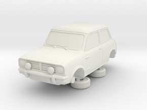 1-64 Austin Mini 74 Saloon 1275 Gt in White Strong & Flexible