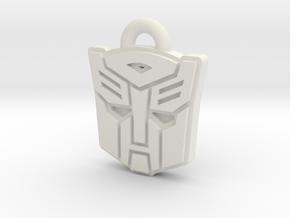 Autobot/Decepticon Flip Symbol in White Natural Versatile Plastic