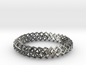Blockchain Bracelet Extra Large in Polished Silver (Interlocking Parts)