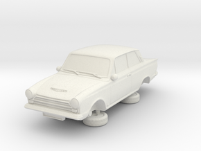 1-64 Ford Cortina Mk1 2 Door in White Natural Versatile Plastic