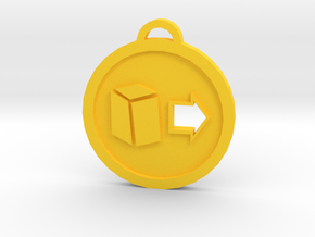 Psychonauts Telekinesis Badge Keychain in Yellow Processed Versatile Plastic