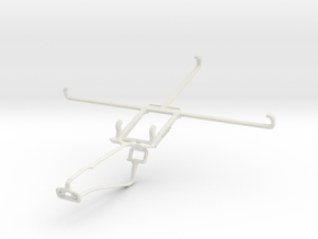 Controller mount for Xbox One Chat & Asus VivoTab  in White Natural Versatile Plastic