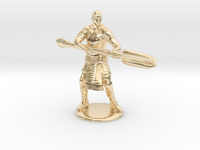 Jaffa  Attack Pose - 35mm  in 14K Yellow Gold