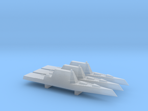 USS Zumwalt x 3, 1/6000 in Smooth Fine Detail Plastic