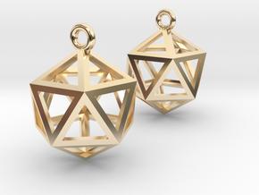 Icosahedron Earrings in 14K Yellow Gold