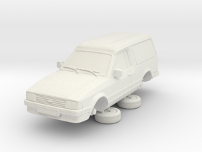 1-64ford Escort Mk3 2 Door Large Van in White Natural Versatile Plastic