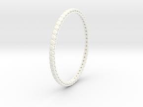 "Bangle simple ""diamonds"" 4 in White Processed Versatile Plastic"