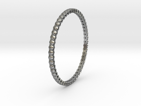 "Bangle simple ""diamonds"" 4 in Natural Silver"