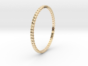 "Bangle simple ""diamonds"" 4 in 14k Gold Plated Brass"