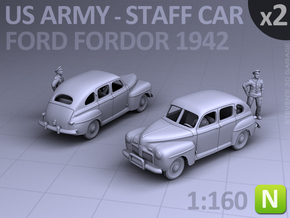 American Staff Car 1942 (N scale) - 2 Pack in Smooth Fine Detail Plastic