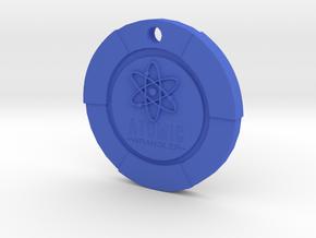 Atomic Wrangler Chip Pendant in Blue Processed Versatile Plastic