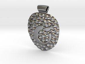 Taurus Pendant in Polished Silver