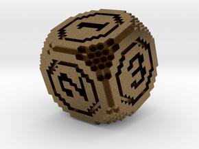 8-Bit Pixel Die in Natural Bronze