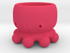 Kawaii Octopus in Pink Processed Versatile Plastic