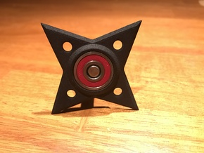 Hand Spinner Throwing Star in Black Natural Versatile Plastic