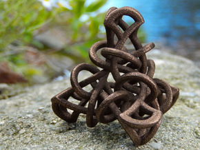 Tetrahedral Tangle in Polished Bronze Steel