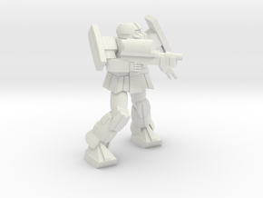 'Pug' A1A Pugnator pose 7 in White Natural Versatile Plastic