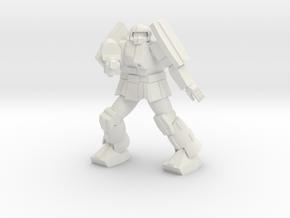 Bulldog pose 4 in White Natural Versatile Plastic