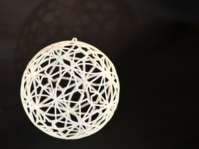 "Xmas Bauble [7cm, 2.8""] in White Strong & Flexible Polished"