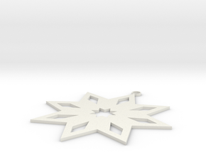 Star Ornament in White Natural Versatile Plastic